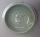 Chinese Song Longquan Celadon Twin Fish Dish