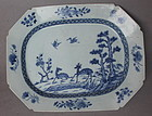 Chinese Blue and White Plate, 18th Century