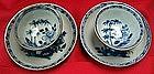 A Pair Batavian blue and white tea bowl and saucer