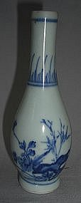 A Fine  blue and white Small Bottle Vase