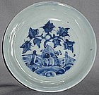 A Blue and White Saucer Dish,Ming dynasty