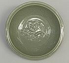 A Nice Yuan dynasty Celadon Dragon Dish