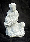 A Blanc de Chine figurine of Guanyin,17-18Th Century
