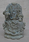 Rare Example of Yuan dyn qingbai figure of Guanyin