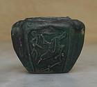 Rare Green glazed square small pot,Ming period