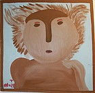 Folk Art Painting- Koala Person- Mose Tolliver