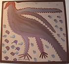 Folk Art Painting- Tree Pecker wood - Mose Tolliver