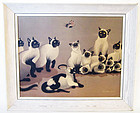 FOUSSA ITAYA CATS/JAPANESE-FRENCH  PRINT S&D 1959