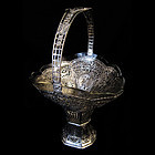 ANTIQUE SILVER FLOWER BASKET/800 GERMAN
