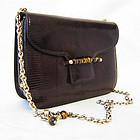 Gucci Vintage Dark Brown Genuine Lizard Handbag Purse