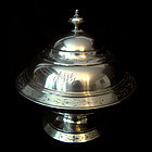 Coin Silver Butter Dish, c. 1865, Ball & Black Co. NY