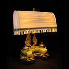 Inkwell Lamp, Stunning with Fabric Shade