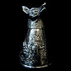 German Sterling Silver Wolf Cup