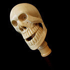 Ivory Skull Walking Stick
