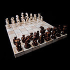 Faux Ivory African Chess Set