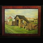 Alpine Genre Painting/Villa Hansl Lumberyard S&D 1928