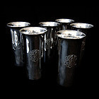 Sterling Silver Hunt Cups Six c.1920/A.G.Schultz Baltimore Horse Races