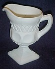 Indiana Kings crown milk glass creamer