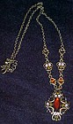 Older costume jewelry  rhinestone necklace