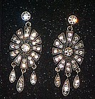 Paula Abdul glam and glitz pierced earrings