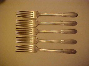 Wm rogers Facination pattern dinner fork silver plate