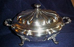 Old Reed & Barton ornate server with lid granite liner