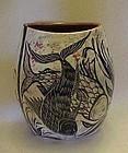 Rare studio art pottery fish vase Eric Chuy Boss 1986