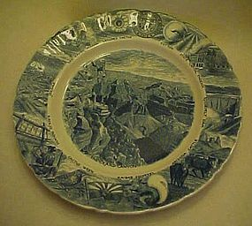 Johnson Brothers blue and White Arizona souvenir plate