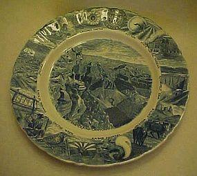 Johnson Brothers blue and White Arizona souvenir plate