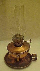 Vintage copper lamp, two way table or wall mount