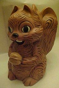 Vintage squirrel and nut  ceramic cookie jar