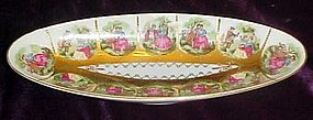 Royal Vienna courting couples celery dish