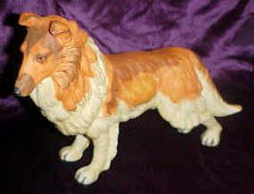 Sable collie  dog  porcelain figurine