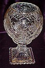 Clear Crystal  pedestal rose bowl vase Essex pattern