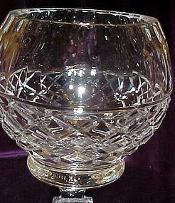 Crystal clear waffle cut pedestal rose bowl
