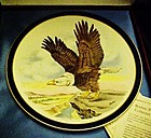 Boehm American Eagle Inaugural plate,  Reagan & Bush