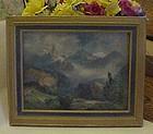 Thomas Moran original framed print Index peak  1914