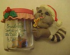 Grandma's cookie jar and raccoon ornament Lustre Fame