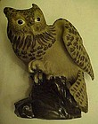 Pottery Clay owl figurine