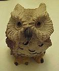 Stone cast owl figurine  DDC1982
