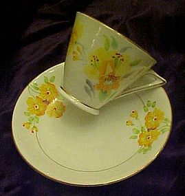 Phoenix chna TF&S teacup and saucer yellow florals