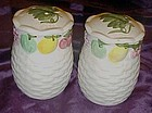 Large ceramic shakers basket weave and fruits