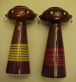 Del Coronado Nasco tall Black Americana Native shakers