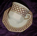Royal Staffordshire Meakin Wicker-Brown cup & saucer