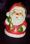 Porcelain Santa Clause bell ornament