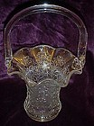 Imperial glass basket white carnival daisy pattern