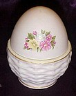Vintage Lefton china hand painted pink  egg box 144