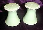 Light green ceramic salt and pepper shakers
