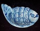 Delft flo blue fish tea bag holder