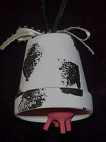 Udderly cute cow bell ornament